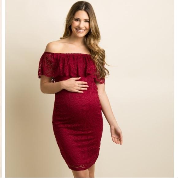 Maroon Maternity Dresses